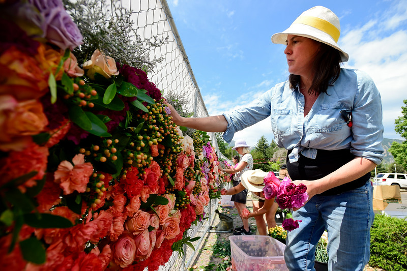 Boulder Strong Tribute Installation Placed on Fence Around King Soopers on Table Mesa Drive