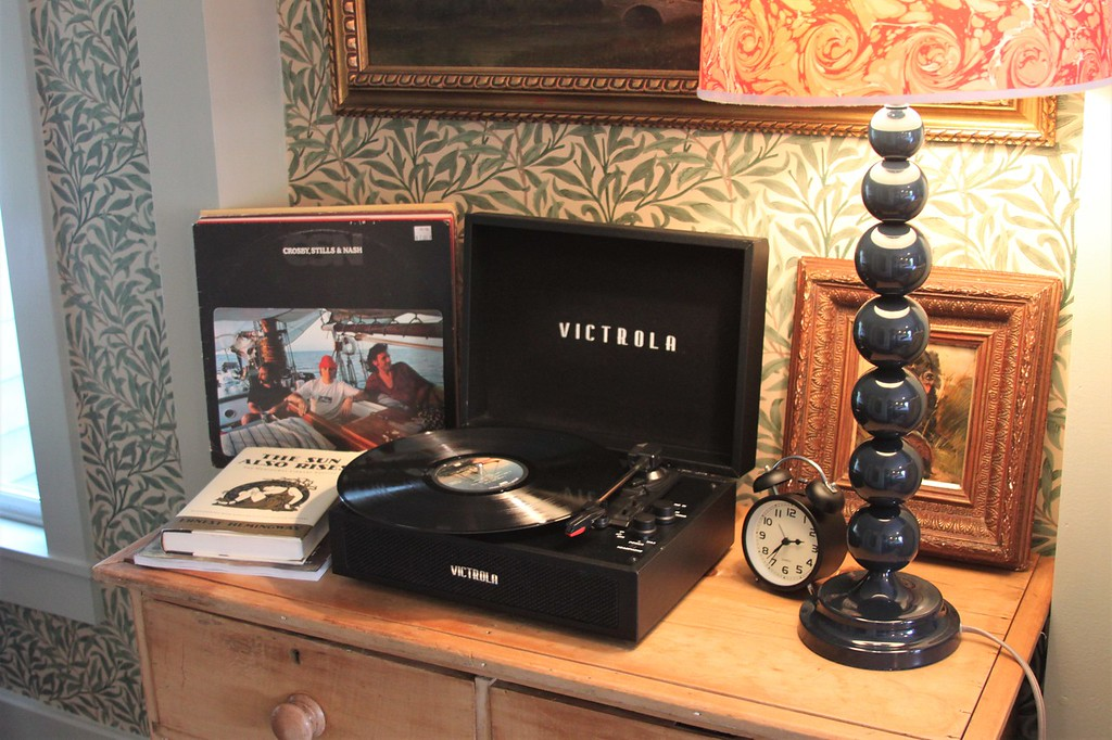 In-room record player