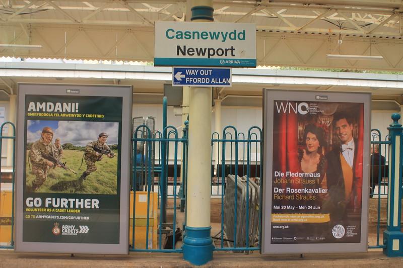 Newport Railway Station (Casnewydd), Wales