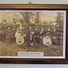 Photo of the 1909 Moriah Sunday school class on display in the Schoolroom