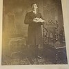 Photo of Evan Roberts as a young man on display in the Schoolhouse, Moriah Chapel