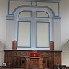Pulpit in the main church at Moriah Chapel