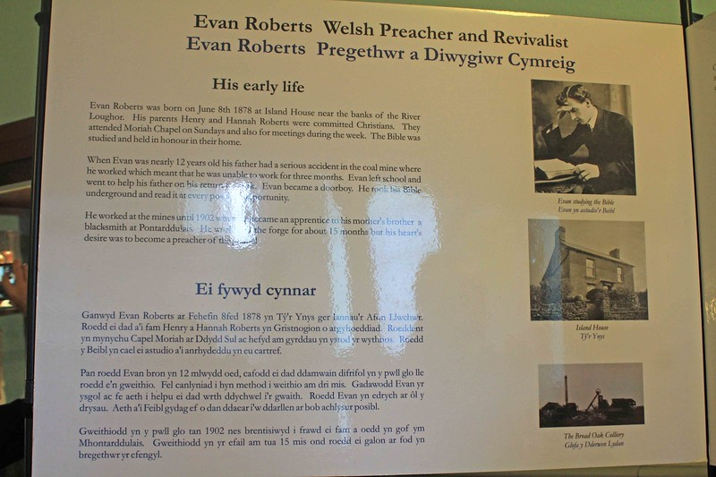 Exhibit in Schoolroom at Moriah Chapel