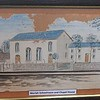 Painting of Moriah Schoolroom and the Chapel House on display in the Schoolhouse at Moriah Chapel