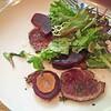 Venison Carpaccio, Beet Root and Horseradish