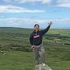 Stan posing along the Pembrokeshire Coast off Ffordd Bedd Morris Road near Newport