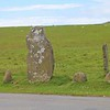 Bedd Morris Standing Stone, on Dinas Mountain off Ffordd Bedd Morris road. It marks the boundary between Pontfaen and Newport in the Pembrokeshire Coast National Park