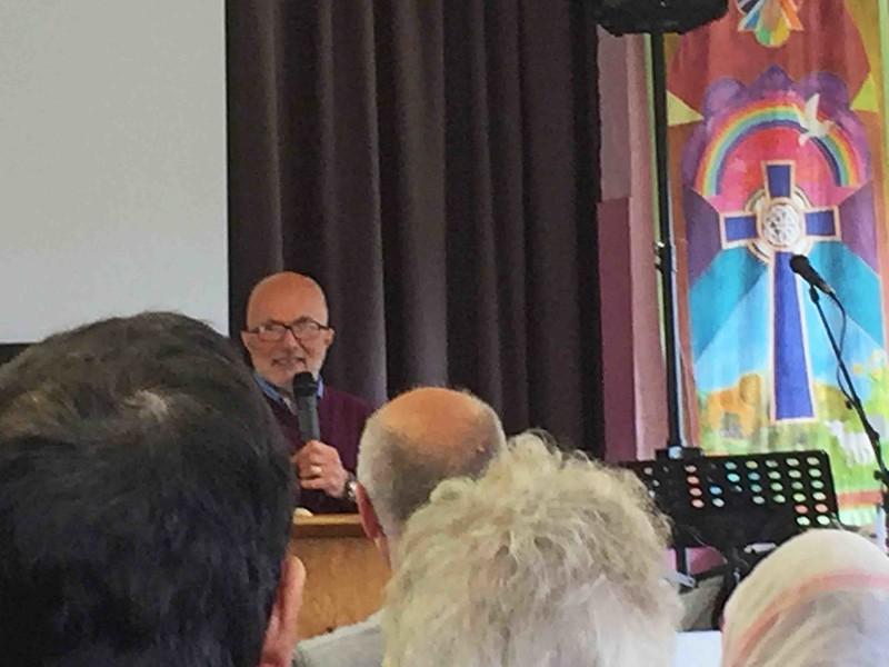 Roy Godwin conducting the prayer meeting at Jabes Vestry