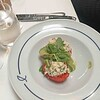 Cornish Crab and Asparagus in Tomato Shell and Pea Shoots