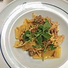 Confit of Rabbit with Pappardelle, Creamy Sauce, Wild Garlic and Sun-dried Tomatoes