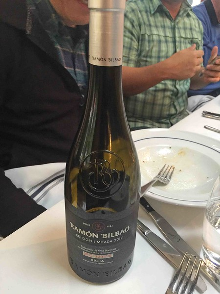 Wine with dinner was a 2014 Ramon Bilbao Rioja from Spain