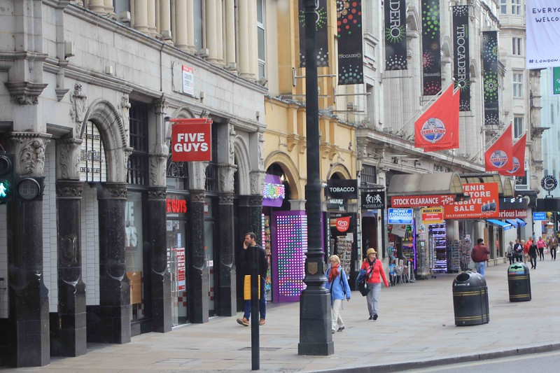 Five Guys and Bubba Gumps, London, West End
