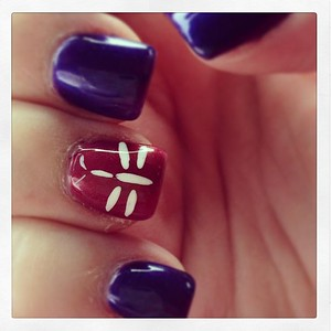 Are you ready to GO BURGUNDY this June?? #apsawareness #goburgundy #nails #dragonfly