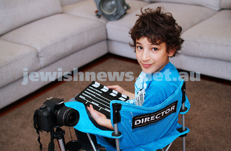 22-5-14. 7-year-old Eli Rauchberger, a FKI Scopus student has made a 5-minute  film, The Candy Hunt which was accepted into the Little Big Shots Film Festival at ACMI Cinema and will be screened with other short films by kids aged 5-15 on Saturday 7th June 2014. photo: peter haskin
