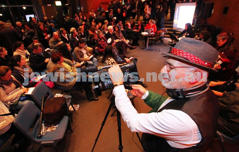 4-5-14. Yom Ha zikaron. Henry Greener from the Schtick shooting for the program. Photo: peter haskin
