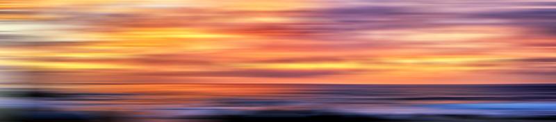 Ocean Sunset Abstract 1