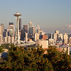 Kerry Park - Finally I have found the perfect location for taking pictures of the skyline of Seattle. I used to think that the scene of the space needle and Mt. Ranier in one frame was Photoshopped but I was disabused.