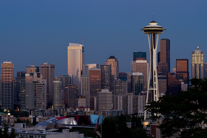 Blue hour over Seattle