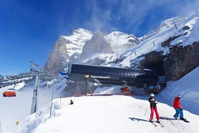 Ski area Kleine Scheidegg, Jungfrau Region
