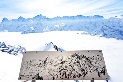 View from Piz Gloria Restaurant, Schilthorn ski area, Jungfrau Region