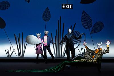 Judith Bohle (Raskha - Mama Wolf), Ron Iyamu (Akela - Papa Wolf), André Kaczmarczyk (Bagheera the Panther), Sebastian Tessenow (Shere Khan the Tiger)