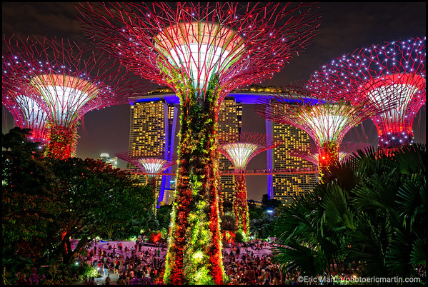 SINGAPOUR VILLE JARDIN. JARDIN GARDEN BY THE BAY. Garden Rhapsody Lightshow