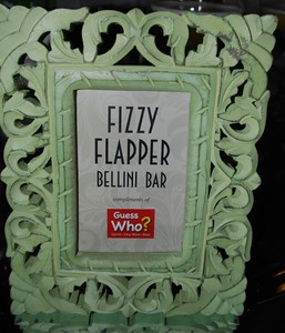 Fizzy Flapper bellini bar sign