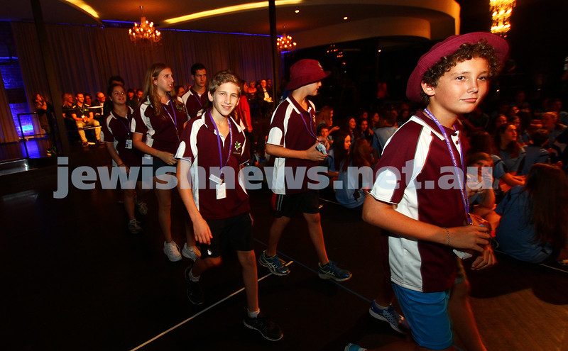 13-1-15. 33rd Junior Carnival, Melbourne. Opening ceremony. Photo: Peter Haskin