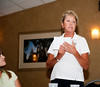 Cissy LeGear, MWGA Rules Director, went over specific local rules that would impact play during the championship and fielded general rules questions from the players and parents.