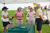 Rules Official Sue Browning goes over conditions for the day with each group.