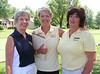 Kansas Coach Kay Payne with rules officials Cissy Legear and Stephany Powell.