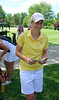 Kate Gallagher checks her first round scores.. Little did she know there was a 78 in her future!
