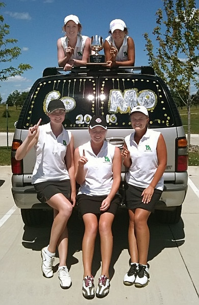 The team couldn't resist painting the travel car from MIssouri!