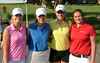 Lindsey Eisenreich with her group on day one: Baile Winslow, Jessie Sindlinger and Sarah Pravecek.