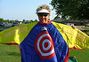 MWGA Rules Director has fun with the Junior Golf SNAG suit at the Sedalia Country Club.