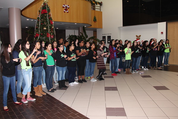 HMJ Choir performs at the Administration Building