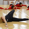 Kerri Walsh Jennings, stretching