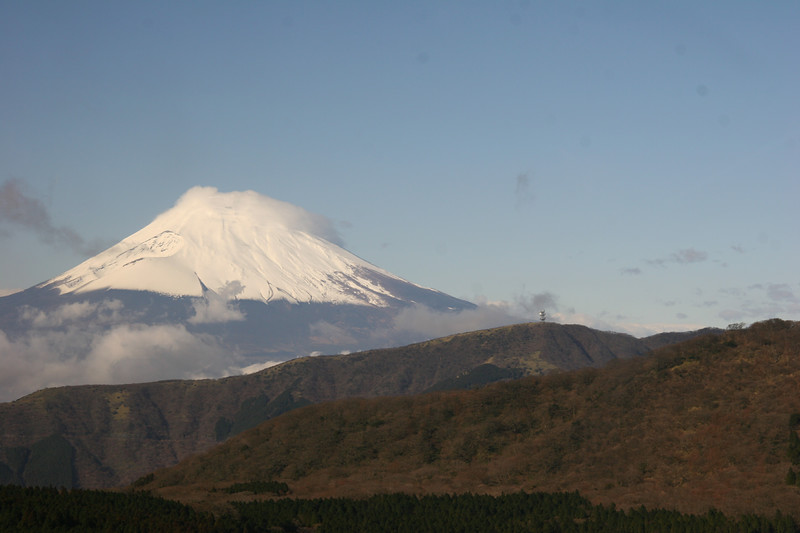This was the first siting of Mt. Fuji. It was on my first day in Japan. And it was remarkably clear.
