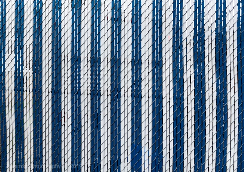 Patterns - Blue & White Fence