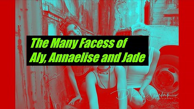 The Many Faces of Aly, Annaelise and Jade at the Junkyard Photoshoot