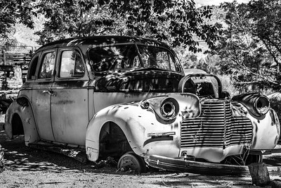 Junk Car in the Shade