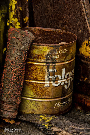 Old Folger's Coffee Can in 1920's White Truck