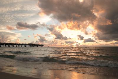 Juno Beach Pier Sunrise