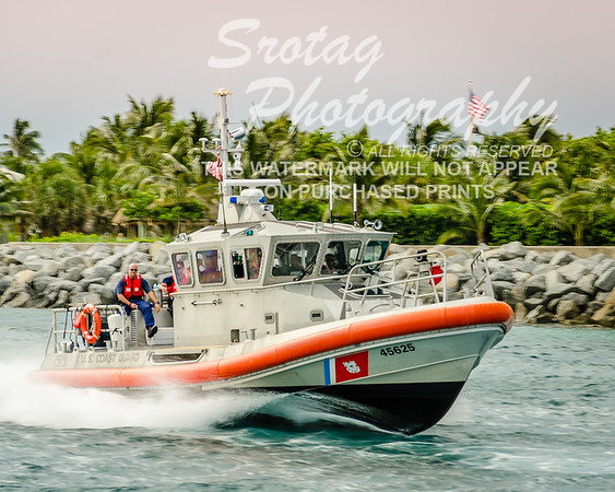 U.S. Coast Guard RB-M with American Flag
