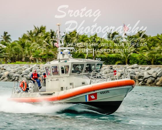 U.S. Coast Guard RB-M with American Flag