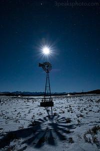 Half moon and windmill shadow
