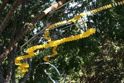 wind snake at the Atlanta Botanical Gardens