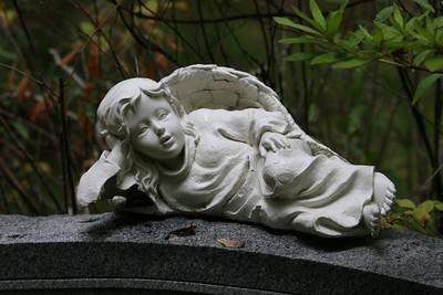Guardian Angel in Cemetary on Daufuskie Island, SC