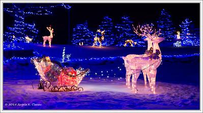 Christmas lights, Grand Junction, Colorado
