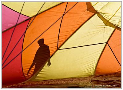 Pilot's shadow, Snowmass Balloon Festival, Snowmass, Colorado